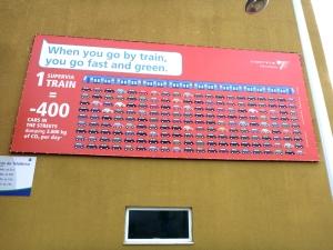 Eine Werbung oben an der Endstation, die aber wohl kaum für die Einwohner gedacht ist. Die haben weder ein Auto noch können sie Englisch.